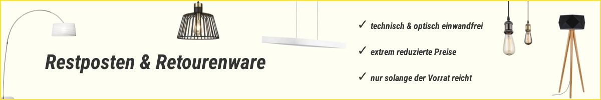 Lampen & Leuchten Restposten & Retourenware