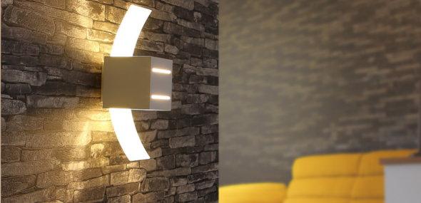 Leuchtende Akzente an Ihren Wänden setzen LED-Wandleuchten