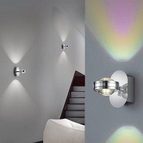 Bunte Lichtspiele mit trendigen Wandleuchten