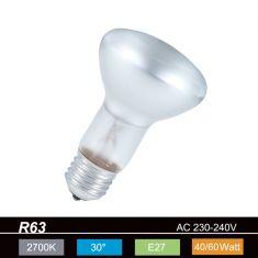 R63 Reflektor 30° Abstrahlwinkel, 60Watt, E27 1x 60 Watt, 60 Watt