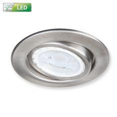 Einbaustrahler für die Decke - Nickel matt - Deckenspot Rund - Inklusive LED 1 x GU10  3 Watt