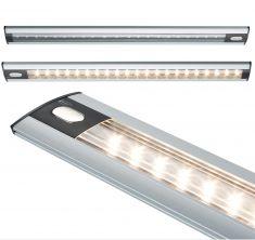 LED-Unterbauleuchte mit Touchschalter-  Alu matt, Schwarz, Aluminium, Acry - inklusive Netzgerät und Zuleitungskabel - in drei Längen verfügbar
