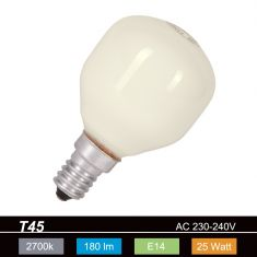 Leuchtmittel D45 Tropfen opal weiß  25W  E14 25 Watt, 180,0 Lumen