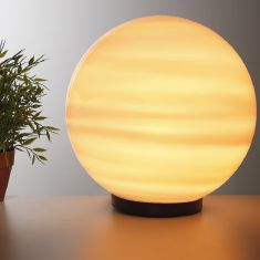Kugelleuchte Ø 40 cm zur Direktmontage mit quer gestreiftem Leuchtmittel