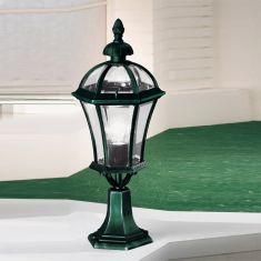Sockelleuchte Westminster in antik-grün 65 cm