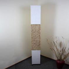 Stehleuchte aus Rattangeflecht und Textil - heller Rattan 1x 40 Watt, beige
