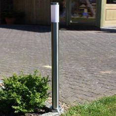 Wegeleuchte aus Edelstahl für energiesparendes Licht