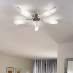 Deckenlampe in Sonnenstrahloptik, 5-flg.