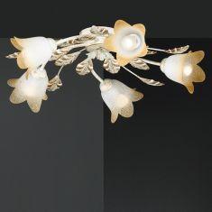 Florentiner Deckenlampe mit zarter Goldverzierung