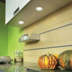 Küchen Unter- bzw.Einbauleuchten 2er-Set weiß, inkl.Energiesparlampe