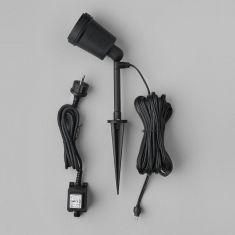 LED-Erdspieß-Wandleuchte, einzelnd oder für Amalfi 12V-System