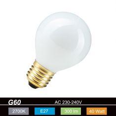 G60 Globe 60mm E27 opal weiß 11969 60W 1x 60 Watt, 60 Watt, 520,0 Lumen