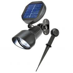 LED-Solar Spot  SPOTLIGHT - inklusive Wandhalterung und Erdspieß