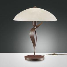 Tischlampe Landhauslook mit Scavo-Strukturglas