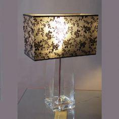 Glasleuchte klar, dekorativer Leuchtenfuß befüllbar