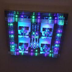 Niedervolt-LED Deckenlampe mit Fernbedienung, Farbwechsel und Leuchtmitteln