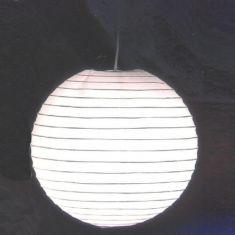 Japankugel in weiß | 40cm Durchmesser | inklusive Schnurpendel | Kugelleuchte aus Papier