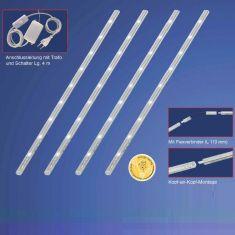 LED-Minileisten 4er Set mit sehr geringer Bauform
