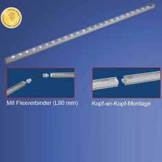 LED-Schienen-Baukastensystem, stellen Sie Ihre Lichtleisten individuell zusammen 16x 0,12 Watt, A++ - A