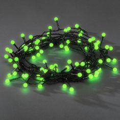 LED Lichterkette für Außen, 80 runde Dioden in grün grün/schwarz
