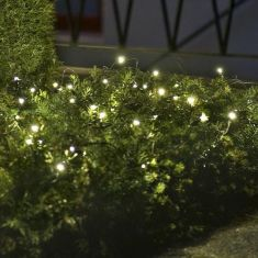 LED Lichternetz, 64 Dioden in warm weiß, 200cm x 200cm