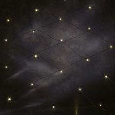 LED Lichternetz, 96 Dioden in warm weiß, 300cm x 300cm, Kabel schwarz