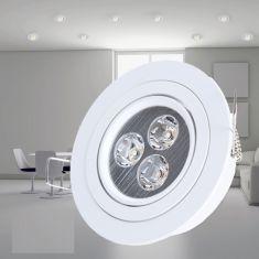 Deckeneinbauleuchte in Weiß, LED 3 x 1W