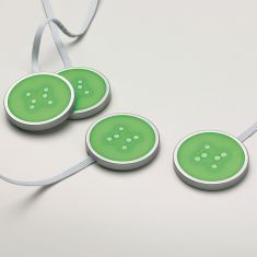 LED-Lichtpuk 4er-Set, transparent inklusive LEDs und automatischem Farbwechsler