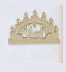 3-D-Mini-Schwibbogen - Motiv Christi Geburt