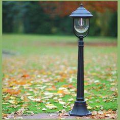 Wegeleuchte in Schwarz - klassische Form - Höhe 116cm schwarz, 116,00 cm