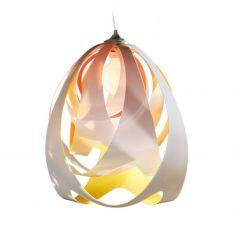 Designer Pendelleuchte Goccia von Slamp - Ø30cm - Fire gelb/orange/weiß
