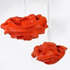 Designer Pendelleuchte Nevo in Orange - in 3 Größen