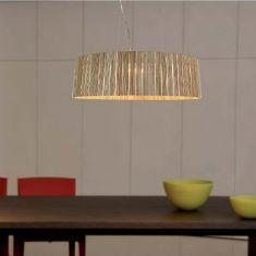 Pendelleuchte Shio Ø49cm - 3 Holzfarben wählbar - nicht dimmbar