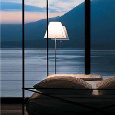 Designer Stehleuchte Costanza von Luceplan in alu oder schwarz - ohne Schirm