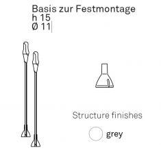 Basis zur Festmontage der Pod Lens - grau