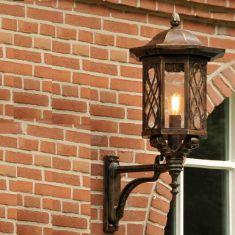 Außenbeleuchtung, Laterne, handgeschmiedet - reich verziert - Höhe 96,3cm