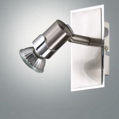 Wandlampe mit beweglichem Spot, mit Kippschalter