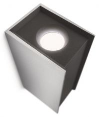 High Power LED-Wandleuchte  Aluminium LED 2x7,5 Watt 2700 Kelvin