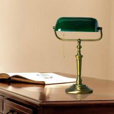 Bankerlampe in 2 Varianten mit Zugschalter