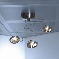 Design-Deckenleuchte mit flexiblen Armen und Halogen-Reflektorlampen