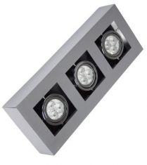 Deckenstrahler mit schwenkbarem Leuchtmittel,  3x 35W  GU10 3x 35 Watt, 36,20 cm, 14,00 cm