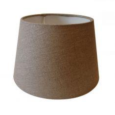 Lampenschirm aus Stoff - Leinen sand - 35-25-19 cm, Aufnahme unten E27