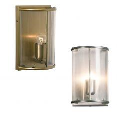 Rustikale Leuchtenserie - Wandleuchte 1-flammig - Stahl - Glas klar - 2 Farben - Bronze oder Stahl