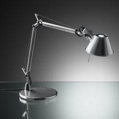 Artemide Tolomeo micro LED in Aluminium mit Dimmer, 3000K warmweiß