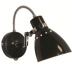 Leuchtenserie im Retrodesign - Wandleuchte  - Stahl - Schwarz 1x 75 Watt, schwarz