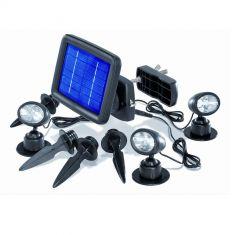 LED Solarspots für Wand oder Boden, inklusive Erdspieße