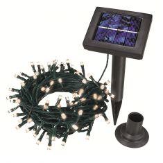 Solar Lichterkette mit warmweißen LEDs LED warmweiß