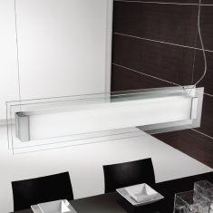 moderne deckenleuchte mit teilsatiniertem glas f r eine. Black Bedroom Furniture Sets. Home Design Ideas