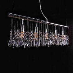 Moderne 5-flammige Pendelleuchte mit 22 x dekorativem Glasbehang