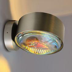 LED Außen-Wandleuchte Puk Maxx Outdoor - Chrom matt Chrom matt